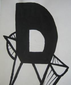 chair 85  -  Tusche auf Papier 24x30cm