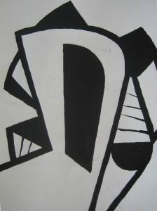 chair 86 - Tusche auf Papier 24x30cm